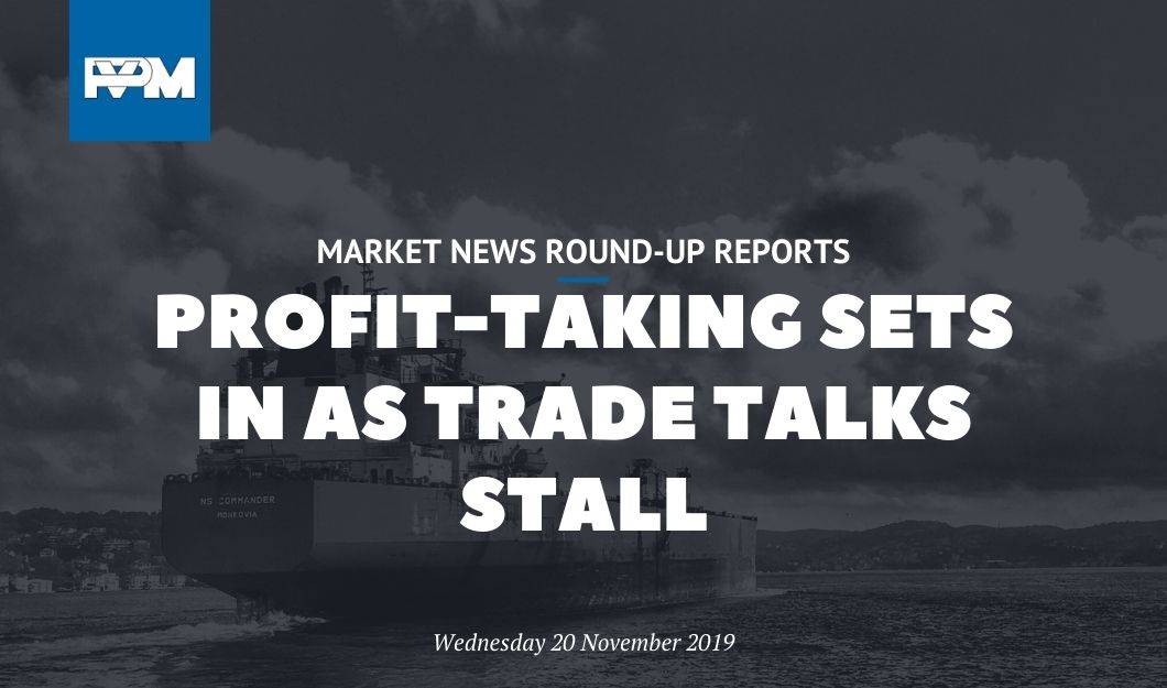 Profit-taking sets in as trade talks stall